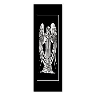 Beardsley Angel Art Nouveau Bookmark Business Card Template