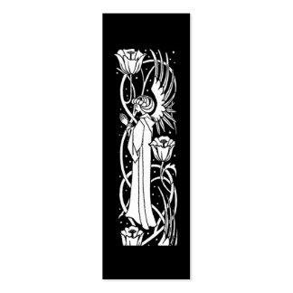Beardsley Angel Floral Book Mark Business Card