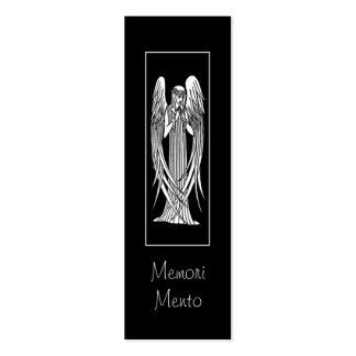 Beardsley Angel Mourning Card Business Cards
