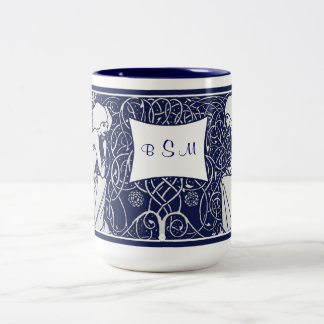 Beardsley Angels Monogram Mug