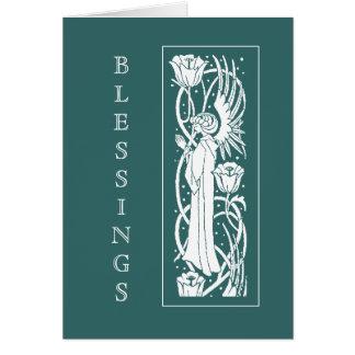Beardsley Art Nouveau Angel Easter Card