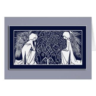 Beardsley Art Nouveau Angels Note Cards