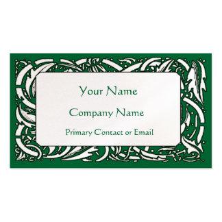 Beardsley Floral Custom Color Business Card