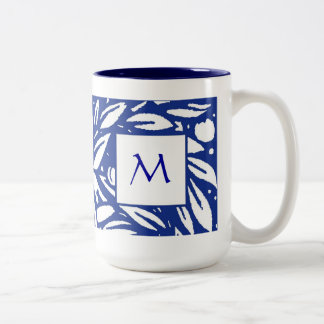 Beardsley Fruit Tree Monogram Mug