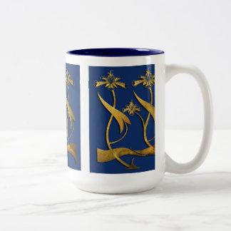 Beardsley Gold and Blue Floral Mug