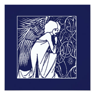 Beardsley Nouveau Angel Holiday Cards 13 Cm X 13 Cm Square Invitation Card