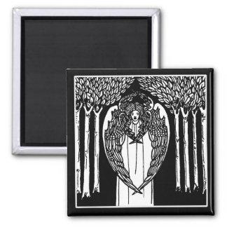 Beardsley Nouveau Angel Magnet