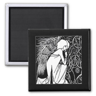 Beardsley Nouveau Angel Magnets
