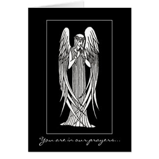 Beardsley Nouveau Angel Sympathy Card
