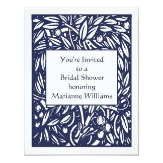 "Beardsley Nouveau Bridal Shower Invitation 4.25"" X 5.5"" Invitation Card"