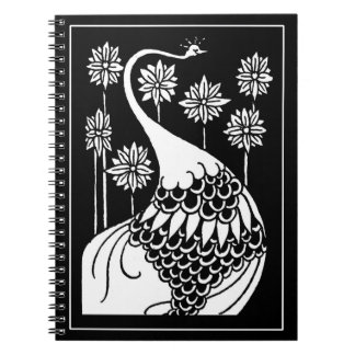 Beardsley Nouveau Peacock Notebook