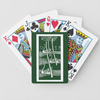 Beardsley Nouveau Swans Playing Cards