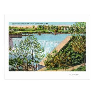 Beardsley Park Water Falls Scene Postcard