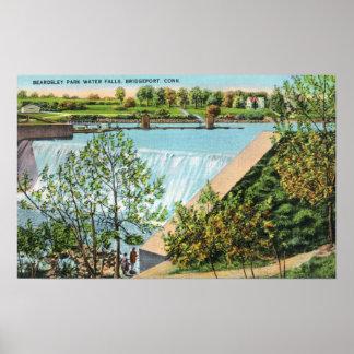 Beardsley Park Water Falls Scene Poster
