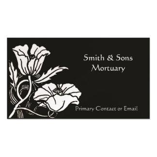 Beardsley Poppies Elegant Mortuary Business Card