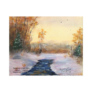 """BEARGRASS CREEK SNOW"" CANVAS WRAPPED PRINT"