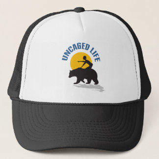 BEARLY-CAGED TRUCKER HAT