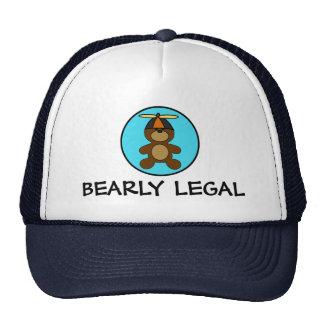 Bearly Legal Teddy Bear Cap