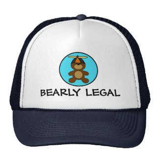 Bearly Legal Teddy Bear Hats