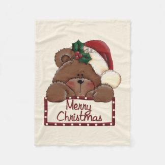 Bearry Merry Christmas Christmas Fleece Blanket