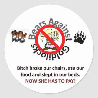 Bears Against Goldilocks 2 Classic Round Sticker