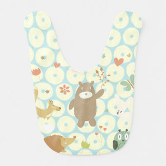 Bears and animal, celestial spots personalize bib