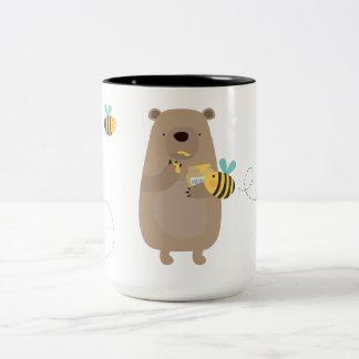 Bears and Bees Two-Tone Coffee Mug