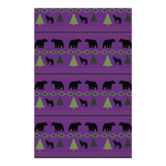Bears and Wolves Stationery Design
