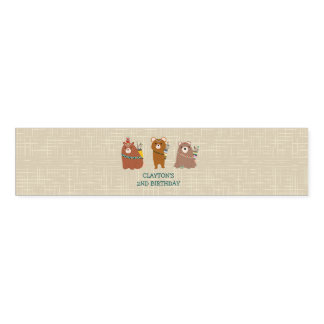 Bears Birthday Party Napkin Wrappers