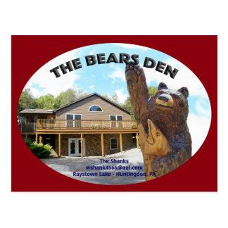 Bears Den Cabin Postcard