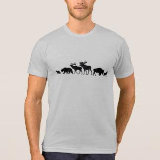 Bears, Elk, Moose, Bison & Wolf T-Shirt