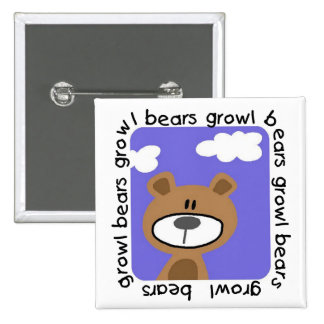 Bears Growl Tshirts and Gifts Buttons