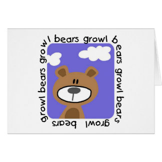 Bears Growl Tshirts and Gifts Greeting Card