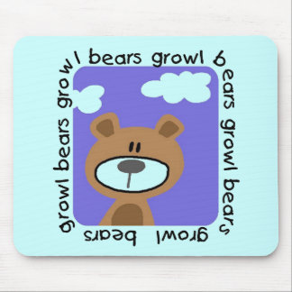 Bears Growl Tshirts and Gifts Mouse Pad