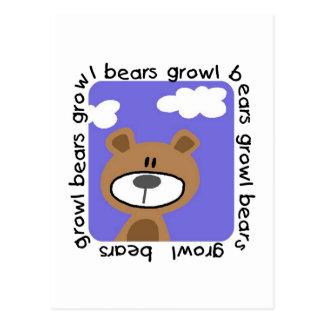 Bears Growl Tshirts and Gifts Postcard