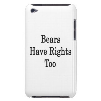 Bears Have Rights Too iPod Case-Mate Case