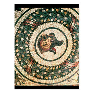 Bear's Head, Roman mosaic, early 4th century Postcard