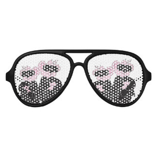 BEARS IN BLACK ALIEN Adult Aviator Party Shades
