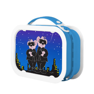 BEARS IN BLACK ALIEN Blue yubo Lunch Box