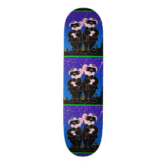 """BEARS IN BLACK ALIEN CARTOON Skateboard 8 1/8"""""""