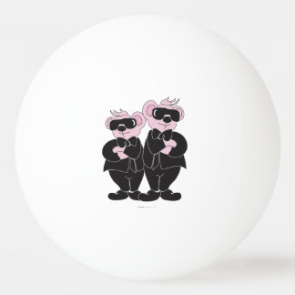 BEARS IN BLACK CARTOON BALL OF PING PONG