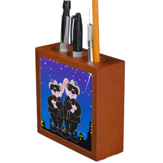 BEARS IN BLACK CARTOON Desk Organizer