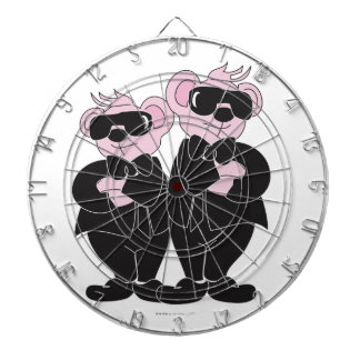 BEARS IN BLACK CARTOON ProfiledInk Dart Board