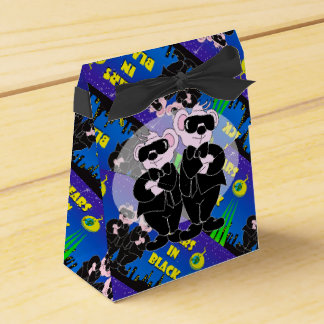 BEARS IN BLACK CARTOON Tent & Ribbon Favor Box 3