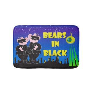 BEARS IN BLACK Small Bath Mat