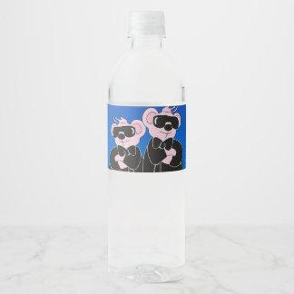 """BEARS IN BLACK Water Bottle Label (8.25"""" x 2.125"""")"""