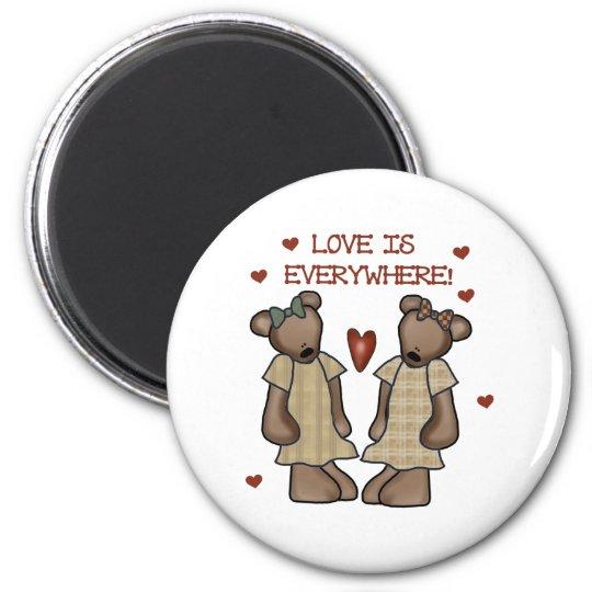 Bears Love is Everywhere Magnet