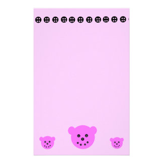 Bears N Buttons stationary Customized Stationery