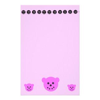 Bears N Buttons stationary Custom Stationery