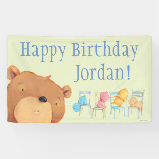 Bears on Chairs Birthday Banner